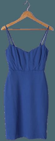 Blue Midi Dress - Bodycon Dress - Sleeveless Dress - Midi Dress - Lulus
