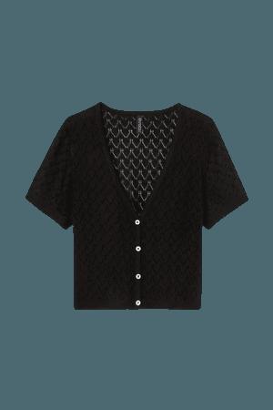 Pointelle Cardigan - Black - Ladies | H&M US