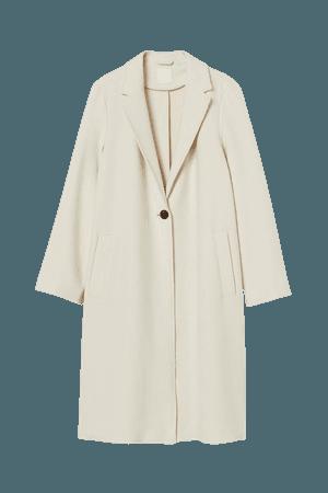 Single-breasted Coat - Cream - Ladies | H&M US