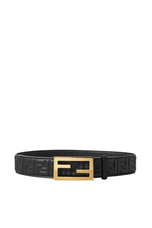 Black Embossed leather belt | Fendi | NET-A-PORTER