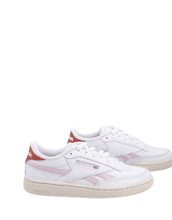 Reebok Club C Revenge sneakers in white and pink   ASOS