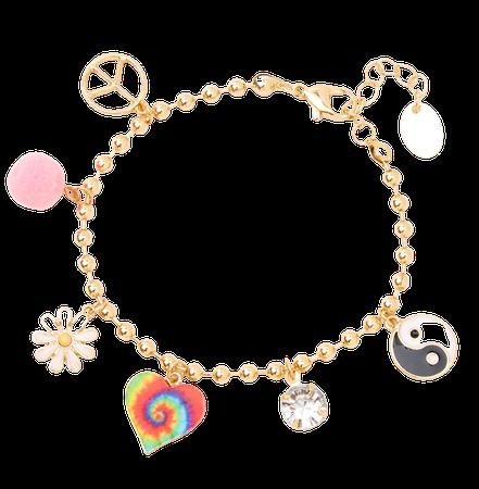 90's Charm Bracelet - Gold   Claire's US