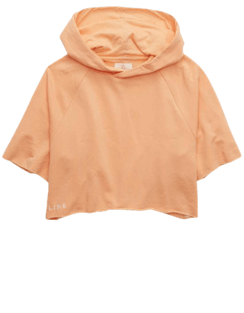 OFFLINE OTT Fleece Short Sleeve Cropped Hoodie