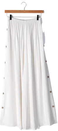 White Pants - Wide-Leg Pants - Side Button Pants - Women's Pants - Lulus