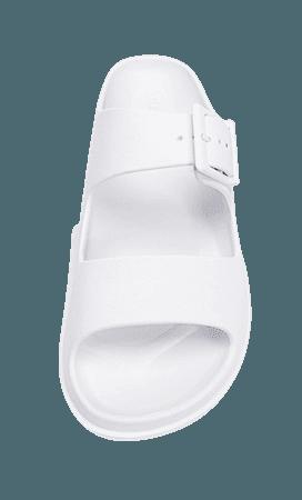Flat rubberised sandals - Women's Just in | Stradivarius United States