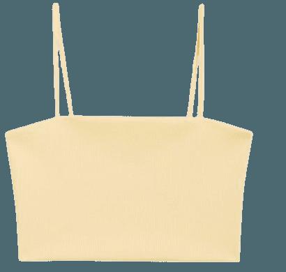 Spaghetti strap crop top - Yellow - Tanktops - Monki WW