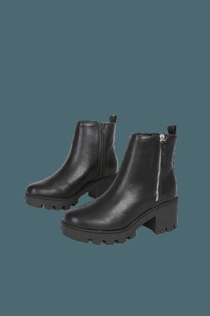 DV by Dolce Vita Nicola Black - Platform Boots - Ankle Boots - Lulus