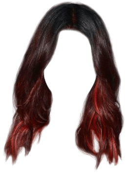 red hair with black