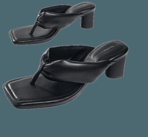 Padded heeled sandals - New - Woman | Bershka