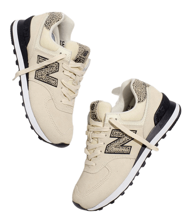 New Balance 574 Sneakers in Cheetah Leather