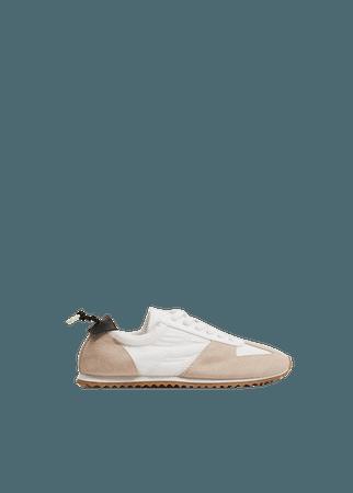 Leather mixed sneakers - Women | Mango USA
