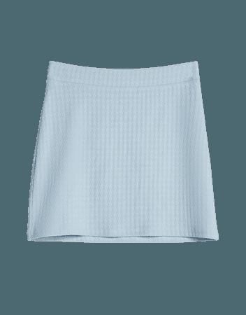Textured mini skirt - Skirts - Woman   Bershka