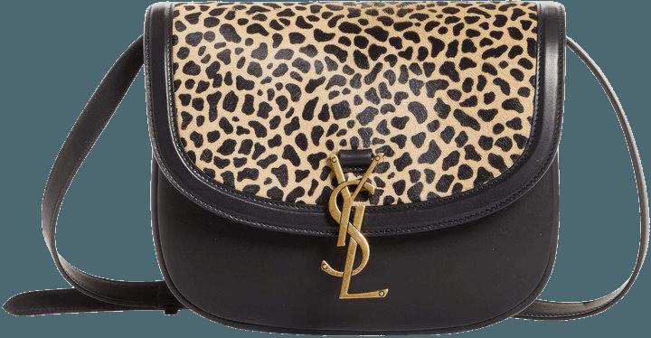 Kaia Leopard Print Genuine Calf Hair & Leather Shoulder Bag