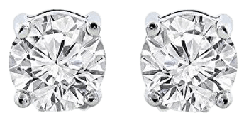 Cate & Chloe - 2Ct. Beyonce Gemstone Silver Stud Earrings, Large Round Brilliant Crystal Silver Studs Earring Sets for Women, Womens Rhinestone Fashion Statement Jewelry - MSRP $99 - Walmart.com - Walmart.com