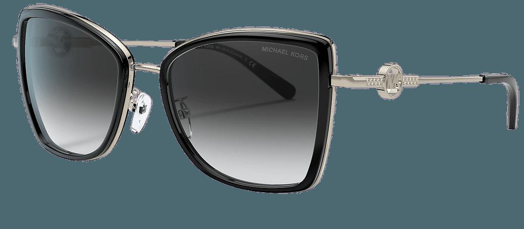 Michael Kors MK1067B Grey-Black & Gold Sunglasses | Sunglass Hut USA