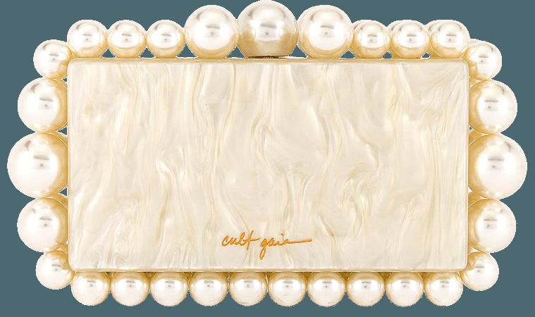 Cult Gaia Eos Box Clutch in Pearl   REVOLVE