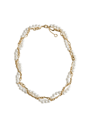 Twisted Pearl Chain Necklace - Gold - Necklaces - & Other Stories