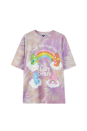Tie-dye Care Bears T-shirt - pull&bear