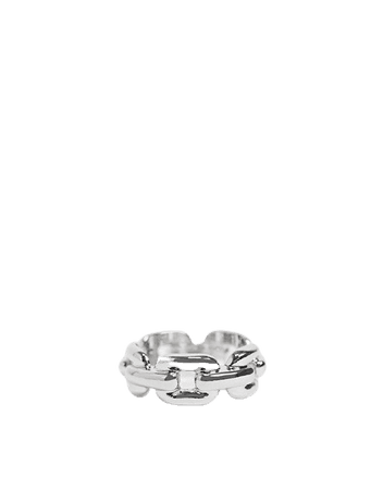 DesignB London Curve Exclusive ring in silver chain link   ASOS