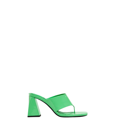 Block-heel sandals - Shoes - Woman | Bershka