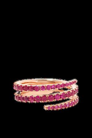 Rose gold 18-karat rose gold ruby ring   Anita Ko   NET-A-PORTER