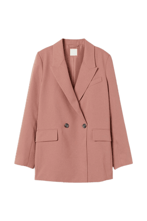 Double-breasted Blazer - Dusty rose - Ladies | H&M US