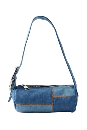 Denim Barrel Baguette Bag   Urban Outfitters