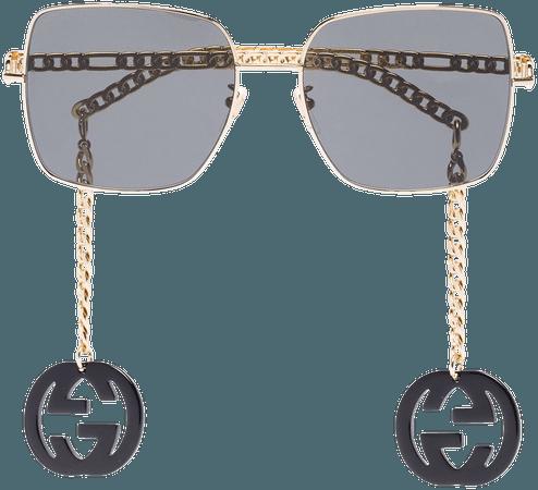 Gucci Eyewear square-frame Logo Charm Sunglasses - Farfetch