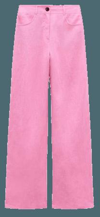 WIDE LEG LINEN PANTS | ZARA United States
