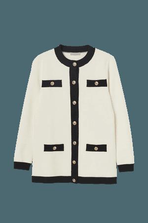 Dressy Cardigan - Cream - Ladies | H&M US