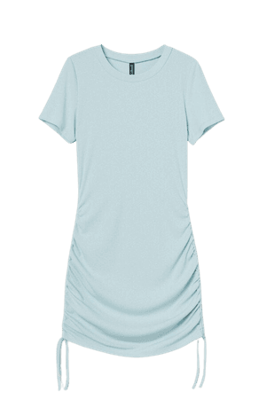 Ribbed Jersey Dress - Turquoise