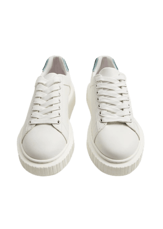 Platform lace-up sneakers - Women | Mango USA