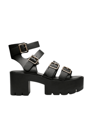 Faux Leather Multi Buckle Chunky Sandals | Nasty Gal