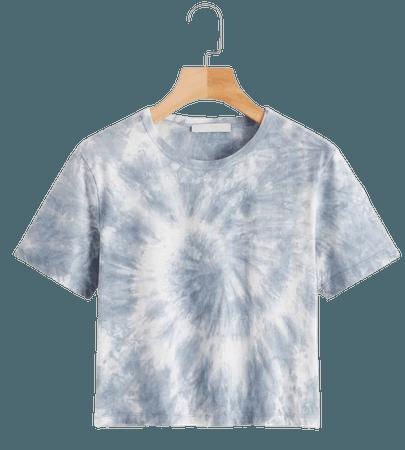 Random Tie Dye Tee | SHEIN USA