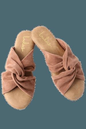 Cute Camel Sandals - Vegan Leather Sandals - Slide Sandals - Lulus