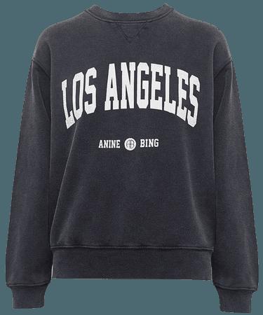 ANINE BING Ramona Sweatshirt Los Angeles - Washed Black