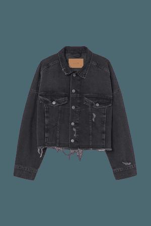 Boxy Denim Jacket - Black - Ladies | H&M US