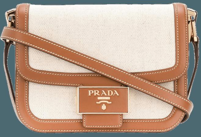 Prada Logo Plaque Shoulder Bag - Farfetch