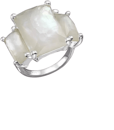IPPOLITA Sterling Silver Rock Candy 3-Stone Prong Set Ring in Mother-of-Pearl | Bloomingdale's