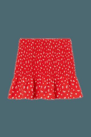 Skirt - Red/floral - Ladies | H&M US