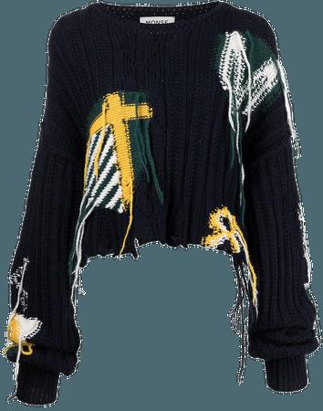 Monse Cropped Knit Cashmere Jumper - Farfetch