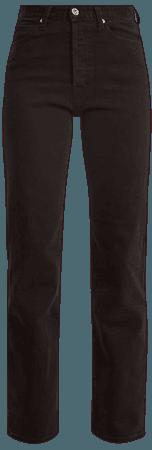 EVE DENIM Juliette High-Rise Straight-Leg Jeans in Black