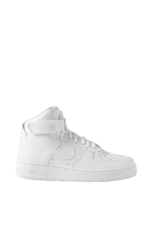 Air Force 1 Leather High-top Sneakers - White