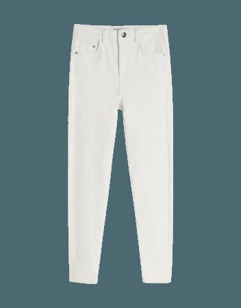 Twill skinny pants - Pants - Woman | Bershka