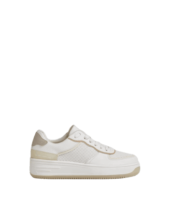Perforated sneakers - Shoes - Woman   Bershka