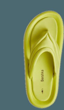 Quilted fabric platform sandals - New - Woman   Bershka