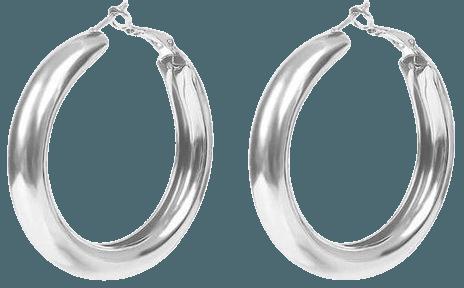 Jewelry | Big Round Silver Hoop Earrings | Poshmark