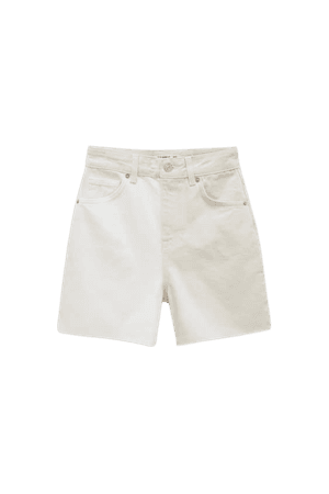 Co lour block denim shorts - Ecologically grown cotton (at least 65%) - pull&bear