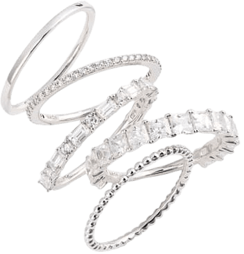 Nadri Set of 5 Stacking Rings | Nordstrom