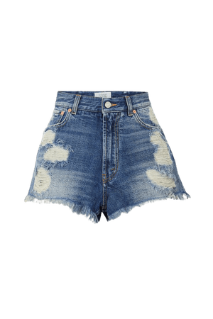 Blue Distressed denim shorts | Givenchy | NET-A-PORTER